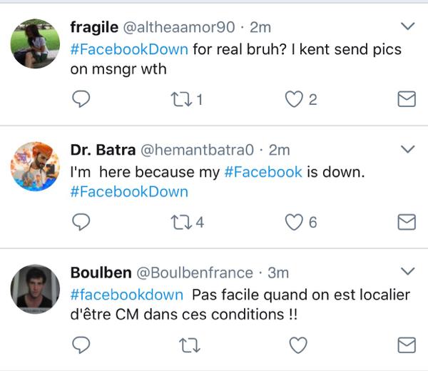 Panne en cours sur Facebook et Instagram
