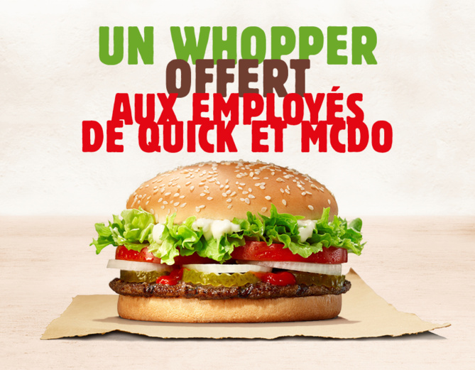 Burger King Réunion offre un Whopper aux employés de Quick et Macdo !